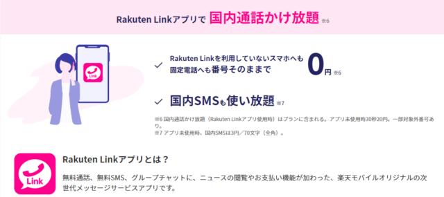 Rakuten Link アプリ